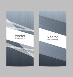Set banners with abstract striped background vector