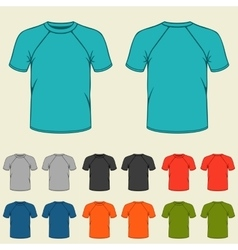 set colored t-shirts templates for men vector image