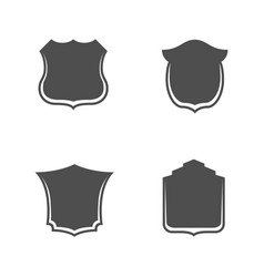 Shields templates with place for your text vector