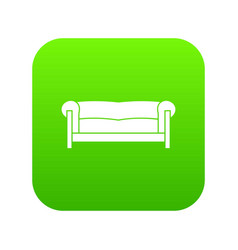 sofa icon digital green vector image