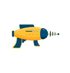 Space laser ray gun yellow and blue toy blaster vector