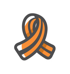 St george ribbon icon cartoon vector