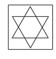 star of david icon vector image