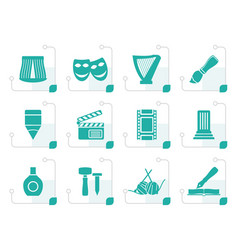 stylized different kind of art icons vector image