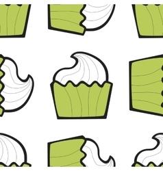 Sundae ice cream cake or frozen yogurt seamless vector