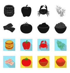 Taste and product logo set vector