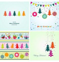 Template Christmas greeting cards vector