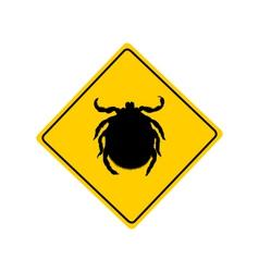 Tick warning sign vector