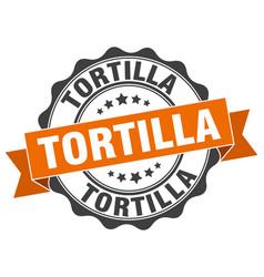 tortilla stamp sign seal vector image