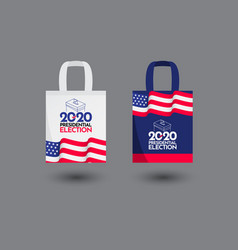 Tote bag vote presidential election 2020 united vector