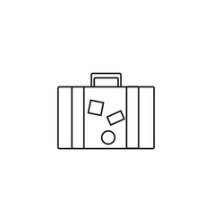 traveler briefcase icon vector image