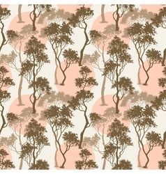 Trees pattern forest background vector image vector image
