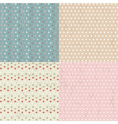 Vintage Paper With Polka Dots Set vector