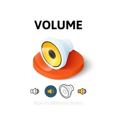 Volume icon in different style vector