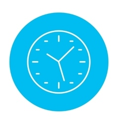Wall clock line icon vector image