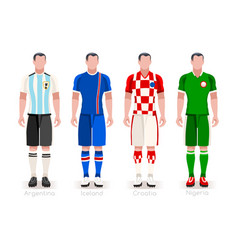 World cup group d jerseys kit vector