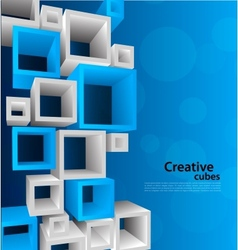 Background with 3d element vector
