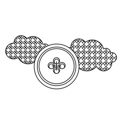 grayscale figures clouds and sun icon vector image vector image