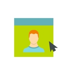 Male avatar in website icon flat style vector image vector image