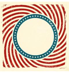 Swirly stripes and stars USA grunge background vector image