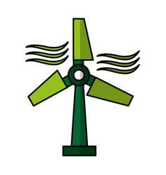 windmill energy alternative icon vector image