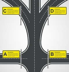 Abstract Road And Street Business Infographic vector image vector image