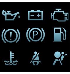 Car interface symbols vector image