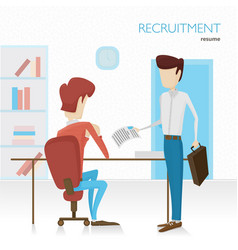 flat the applicant will vector image vector image