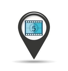symbol cinema icon counting strip movie design vector image