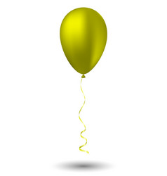 yellow balloon on white background vector image vector image