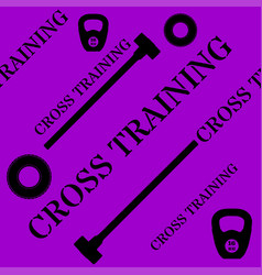cross training seamless pattern with kettlebell vector image