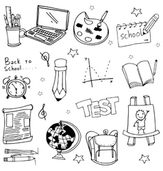 Doodle of school education object vector