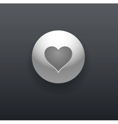 Heart Button vector image