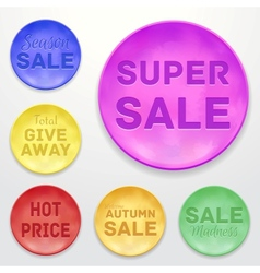 Promotional stickers Colorful collection vector image vector image