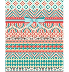 Set of patterns and stripes for scrapbooking All vector image vector image