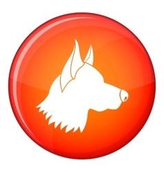 Shepherd dog icon flat style vector