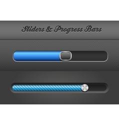 slider bars vector image vector image