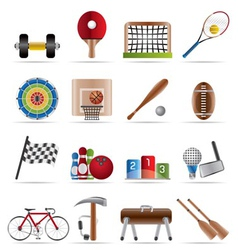 sports gear and tools vector image vector image