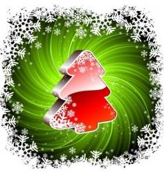 Christmas tree vector image vector image
