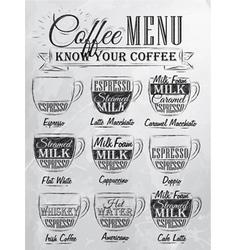 Coffee Menu cup coal vector image