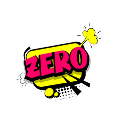colored comic text numbers zero vector image