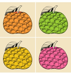 Decorative apples vector image vector image