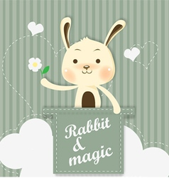 magic bunny vector image vector image