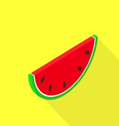 Slice watermelon on a yellow background vector image