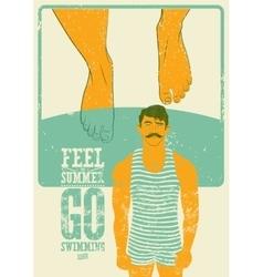 Summer phrase typographic vintage grunge poster vector image
