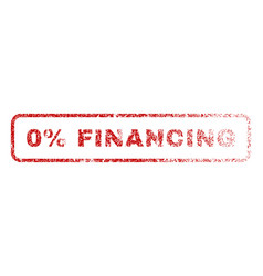 0 percent financing rubber stamp vector image