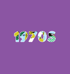 1970s concept word art vector