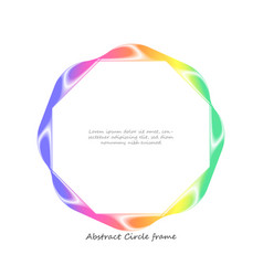 abstract colorful wave circle frame background vector image