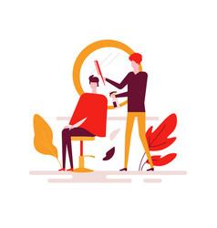 barber shop - colorful flat design style vector image