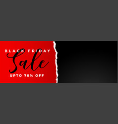 Black friday sale banner in torn paper style vector